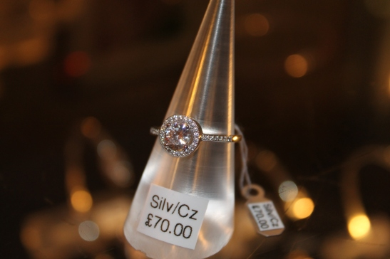 Petra Gems: Lovely silver ring with Cubic Zirconia detail, £70.00